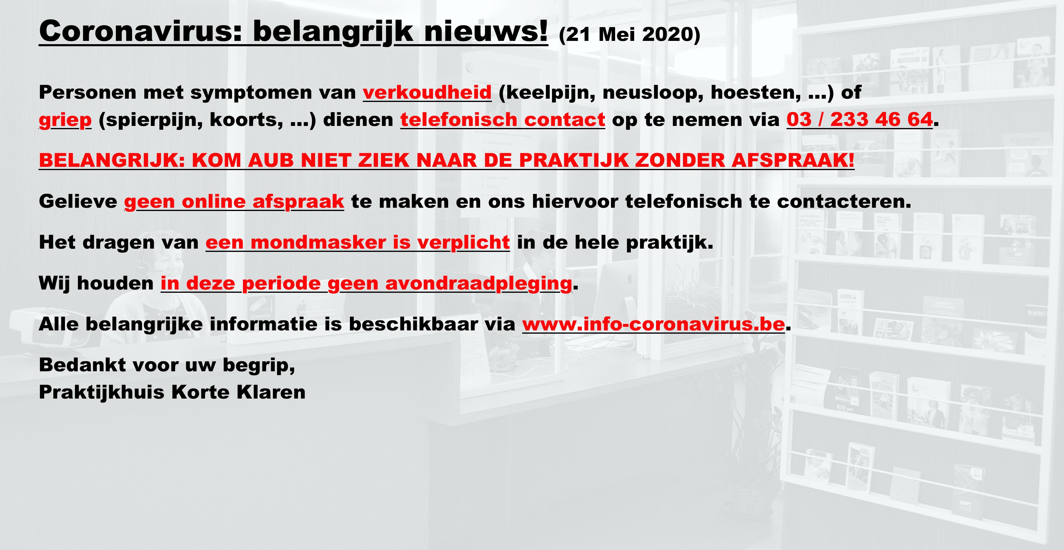 20200521_KOKLA_CORONAVIRUS_BELANGRIJK_NIEUWS